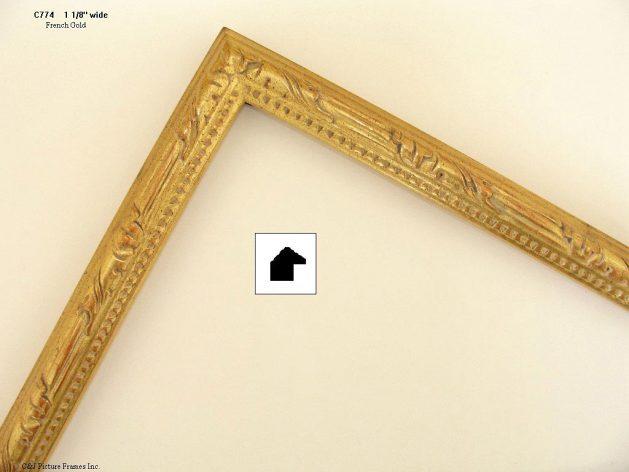 AMCI-Regence: CJFrames - French Frames - Gold Leaf - Black over Metal - Antique White - Ebony: C774