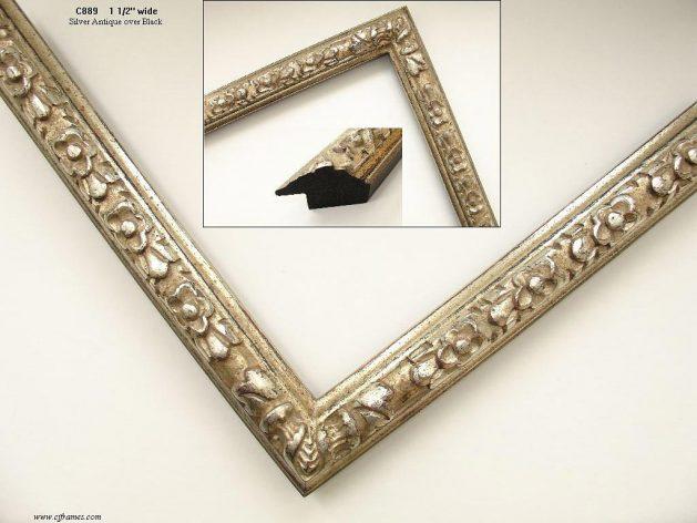AMCI-Regence: CJFrames - French Frames - Gold Leaf - Black over Metal - Antique White - Ebony: C889
