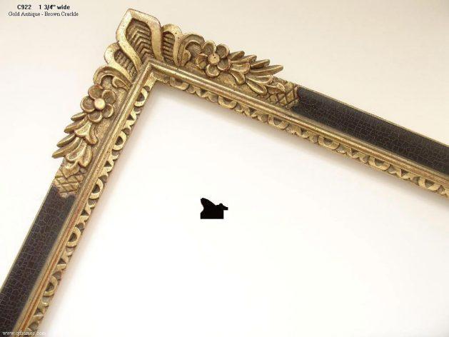 AMCI-Regence: CJFrames - French Frames - Gold Leaf - Black over Metal - Antique White - Ebony: C922
