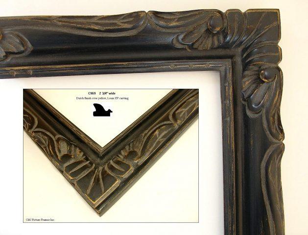 AMCI-Regence: CJFrames - French Frames - Gold Leaf - Black over Metal - Antique White - Ebony: C969