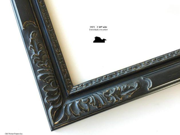 AMCI-Regence: CJFrames - French Frames - Gold Leaf - Black over Metal - Antique White - Ebony: C973