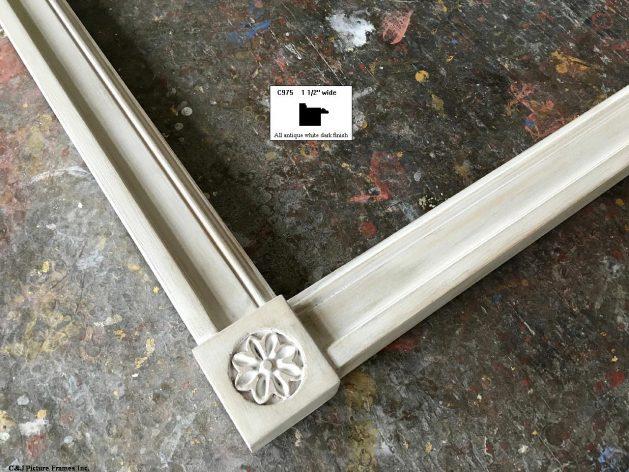 AMCI-Regence: CJFrames - Contemporary Frames - Gold Leaf - Black over Metal - Antique White - Ebony: C975