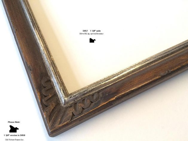 AMCI-Regence: CJFrames - French Frames - Gold Leaf - Black over Metal - Antique White - Ebony: D057