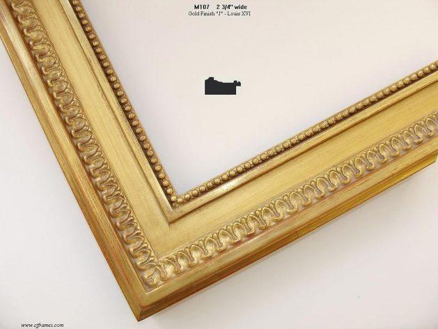 AMCI-Regence: CJFrames - French Frames - Gold Leaf - Black over Metal - Antique White - Ebony: M107