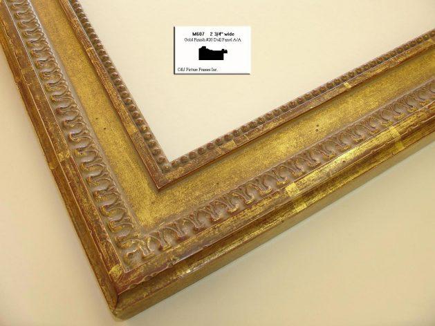 AMCI-Regence: CJFrames - French Frames - Gold Leaf - Black over Metal - Antique White - Ebony: M607