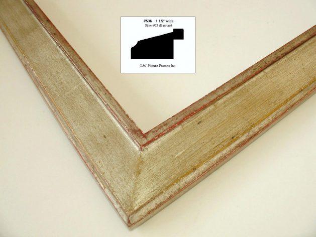 AMCI-Regence: CJFrames - Contemporary Frames - Gold Leaf - Black over Metal - Antique White - Ebony: P536