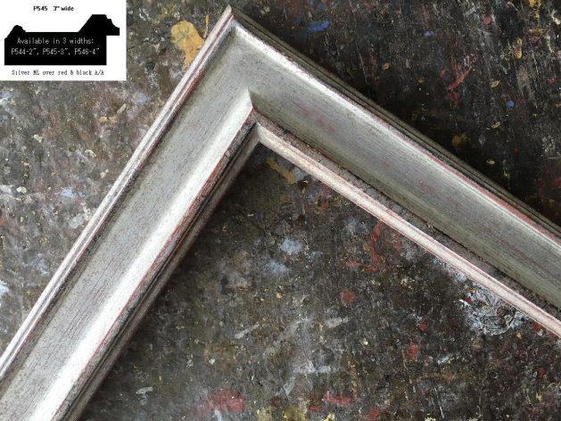 AMCI-Regence: CJFrames - Contemporary Frames - Gold Leaf - Black over Metal - Antique White - Ebony: P545