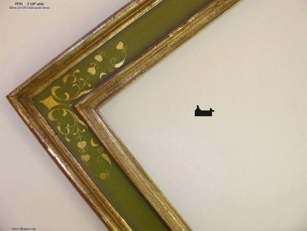 AMCI-Regence: CJFrames - Italian Frames - Gold Leaf - Black over Metal - Antique White - Ebony: PF01