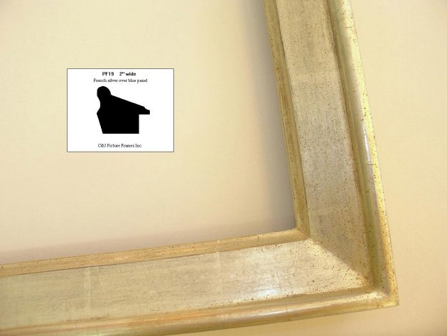 AMCI-Regence: CJFrames - Contemporary Frames - Gold Leaf - Black over Metal - Antique White - Ebony: PF19