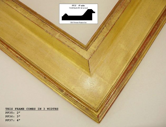 AMCI-Regence: CJFrames - Contemporary Frames - Gold Leaf - Black over Metal - Antique White - Ebony: PF37