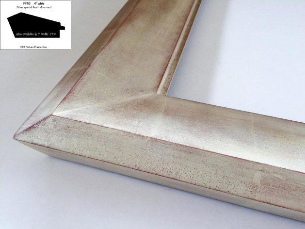 AMCI-Regence: CJFrames - Contemporary Frames - Gold Leaf - Black over Metal - Antique White - Ebony: PF53