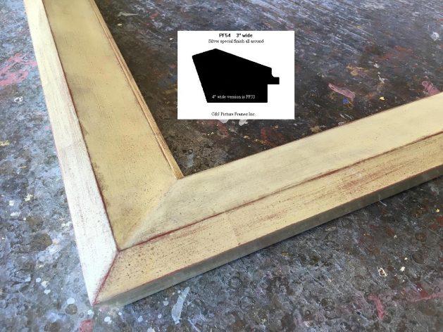 AMCI-Regence: CJFrames - Contemporary Frames - Gold Leaf - Black over Metal - Antique White - Ebony: PF54