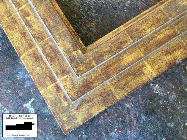 AMCI-Regence: CJFrames - Contemporary Frames - Gold Leaf - Black over Metal - Antique White - Ebony: PF61