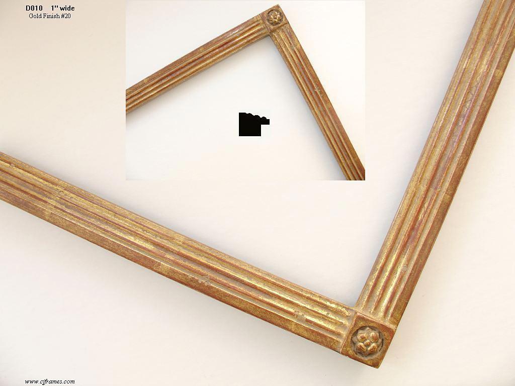 AMCI-Regence: CJFrames - Drawing Frames - Gold Leaf - Black Over Metal - Antique White - Ebony: D010