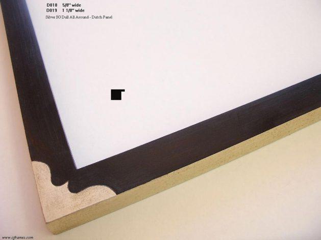 AMCI-Regence: CJFrames - Drawing Frames - Gold Leaf - Black over Metal - Antique White - Ebony: D018