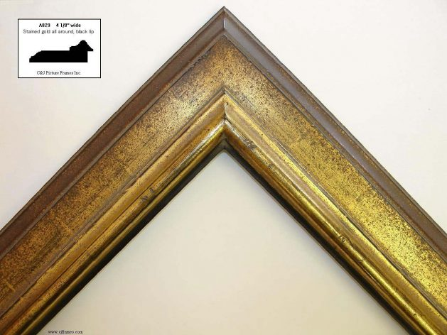 AMCI-Regence: CJFrames: Gold Leaf frames in a variety of styles Contemporary - Oriental - Hicks: a829