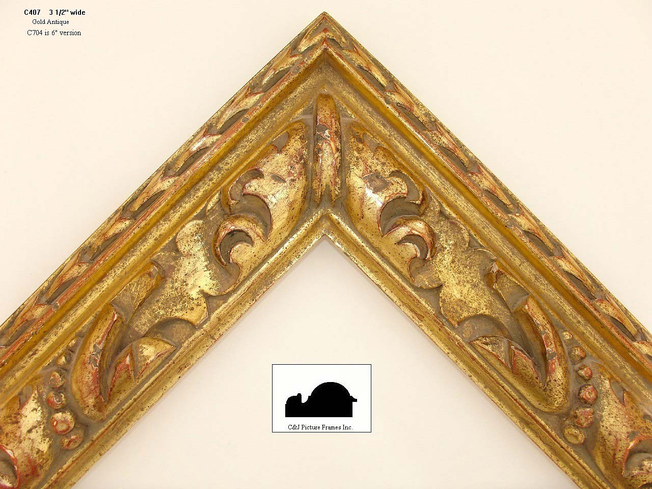 Hand carved frames in a variety of styles