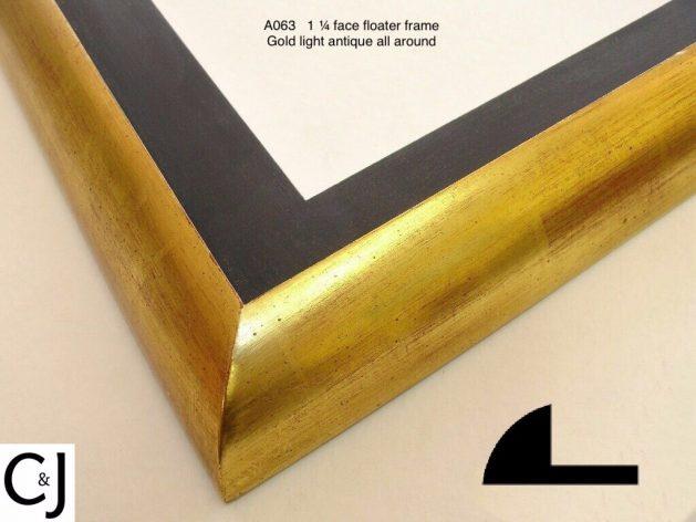 AMCI-Regence: CJFrames: Floater Frames - 22k Gold - 12k White Gold: a063