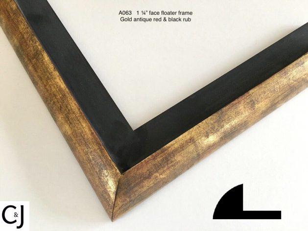 AMCI-Regence: CJFrames: Floater Frames - 22k Gold - 12k White Gold: a063b