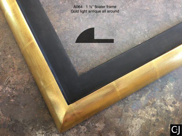 AMCI-Regence: CJFrames: Floater Frames - 22k Gold - 12k White Gold: a064