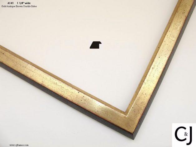 AMCI-Regence: CJFrames: 22k or 12k Gold with Brown Crackle: a141
