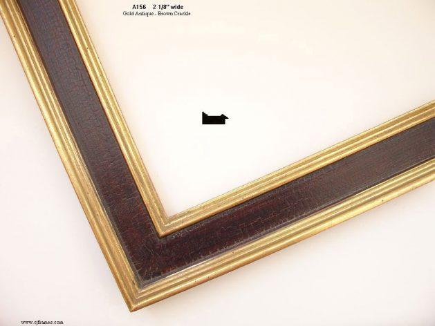 AMCI-Regence: CJFrames: 22k or 12k Gold with Brown Crackle: a156