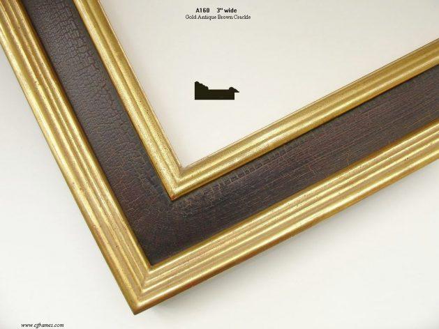 AMCI-Regence: CJFrames: 22k or 12k Gold with Brown Crackle: a160