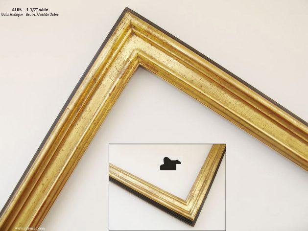 AMCI-Regence: CJFrames: 22k or 12k Gold with Brown Crackle: a165
