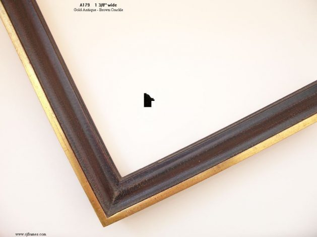 AMCI-Regence: CJFrames: 22k or 12k Gold with Brown Crackle: a179