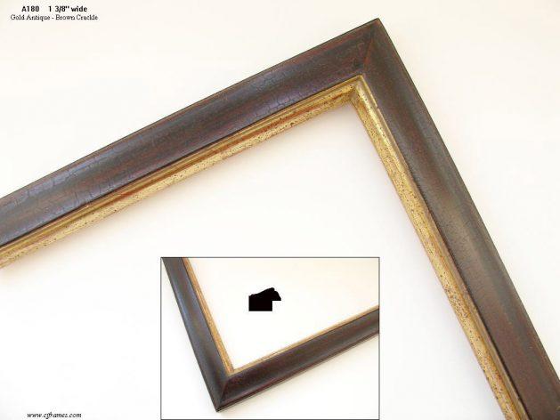 AMCI-Regence: CJFrames: 22k or 12k Gold with Brown Crackle: a180