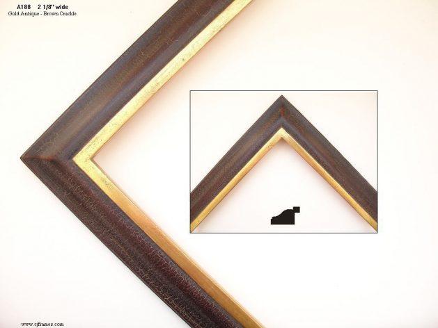 AMCI-Regence: CJFrames: 22k or 12k Gold with Brown Crackle: a188