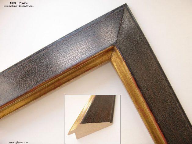 AMCI-Regence: CJFrames: 22k or 12k Gold with Brown Crackle: a389