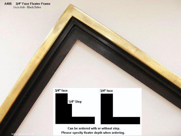 AMCI-Regence: CJFrames: Floater Frames - 22k Gold - 12k White Gold: a406
