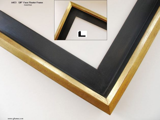 AMCI-Regence: CJFrames: Floater Frames - 22k Gold - 12k White Gold: a423