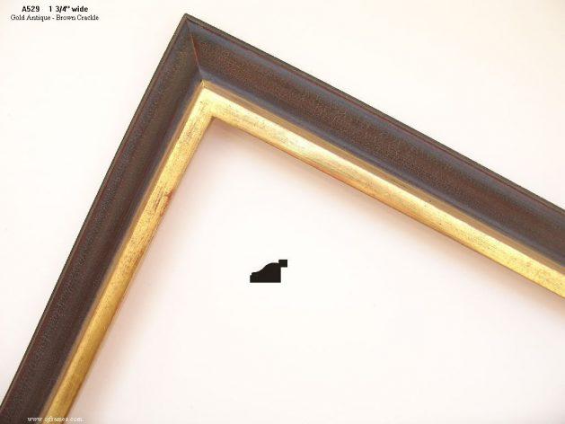 AMCI-Regence: CJFrames: 22k or 12k Gold with Brown Crackle: a529