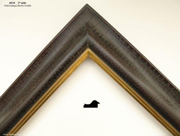 AMCI-Regence: CJFrames: 22k or 12k Gold with Brown Crackle: a634