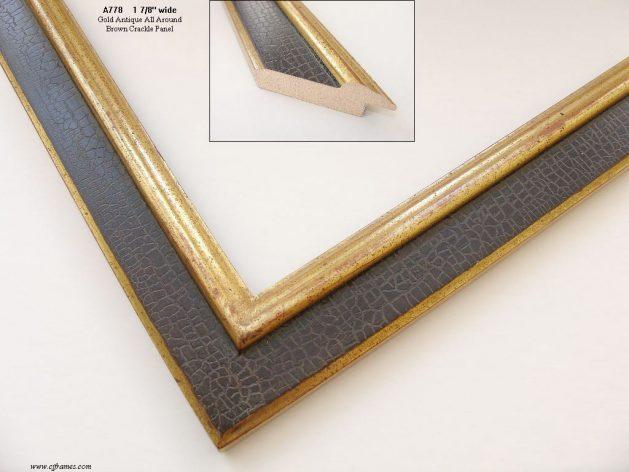 AMCI-Regence: CJFrames: 22k or 12k Gold with Brown Crackle: a778