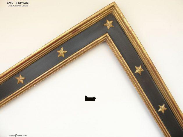 AMCI-Regence: CJFrames: Gold Leaf - Sully - Ropes - Stars - Bamboo: a795
