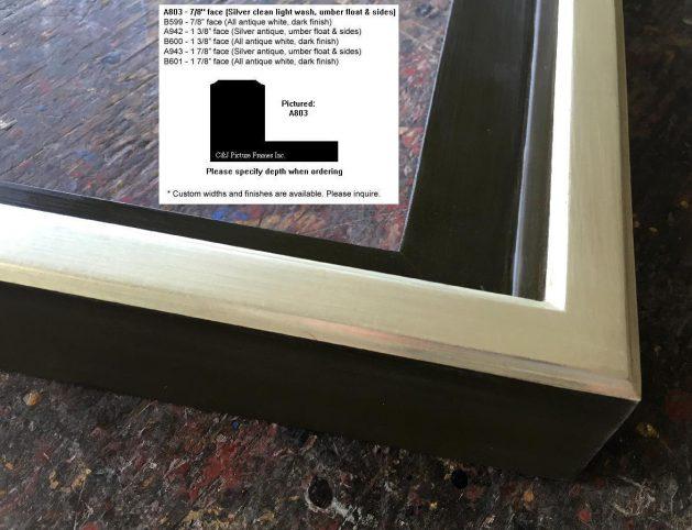 AMCI-Regence: CJFrames: Floater Frames - 22k Gold - 12k White Gold: a803