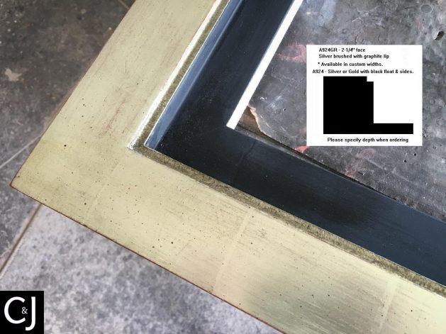 AMCI-Regence: CJFrames: Floater Frames - 22k Gold - 12k White Gold: a924gr