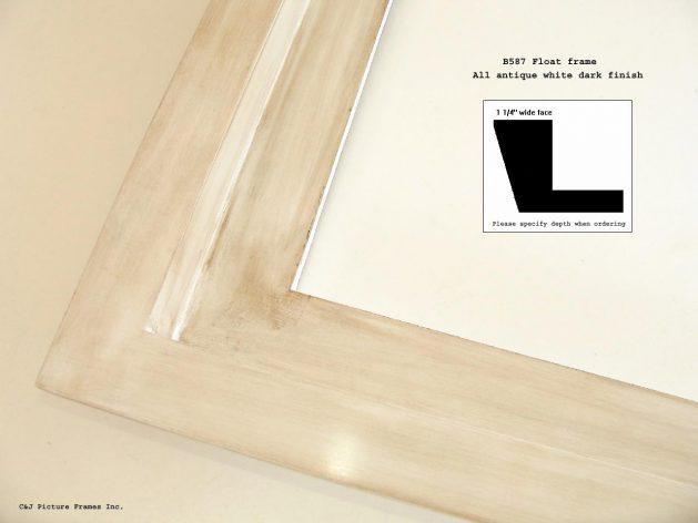 AMCI-Regence: CJFrames: Floater Frames - 22k Gold - 12k White Gold: b587