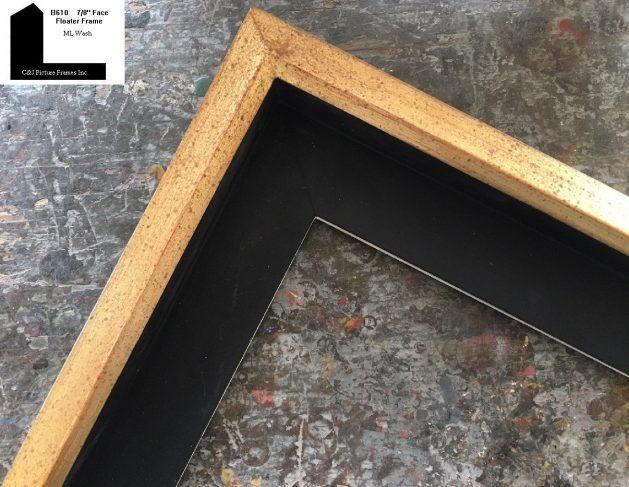 AMCI-Regence: CJFrames: Floater Frames - 22k Gold - 12k White Gold: b610