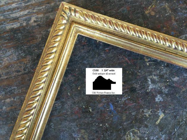 AMCI-Regence: CJFrames: Gold Leaf - Sully - Ropes - Stars - Bamboo: c590
