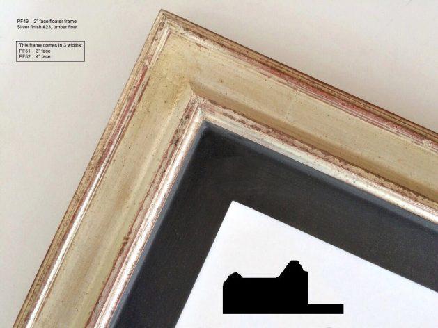 AMCI-Regence: CJFrames: Floater Frames - 22k Gold - 12k White Gold: pf49