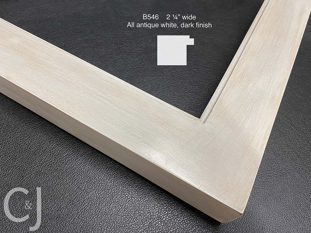 F58- Antique White Dark Finish: White Gesso And Wax Finish.