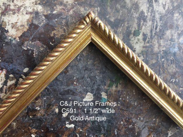 AMCI-Regence: CJFrames: Gold Leaf - Sully - Ropes - Stars - Bamboo: c591