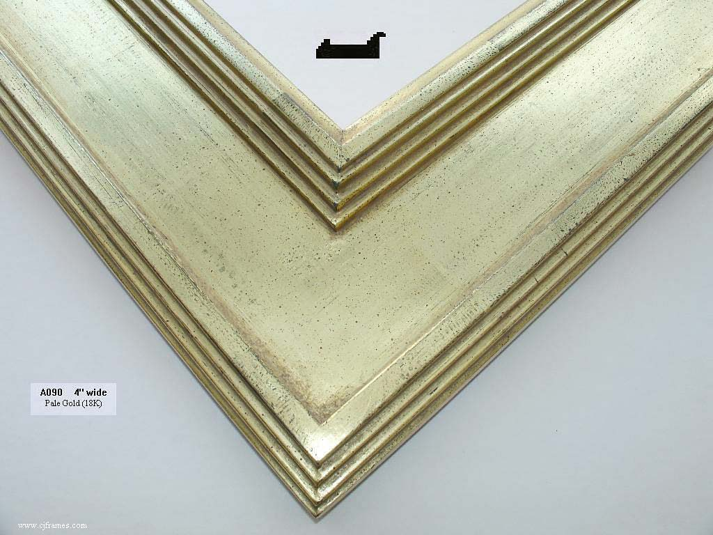 F61- Pale Gold: 18k Gold Over Gray Clay, White And Umber Wash. Brushed Or Antique Finishes.