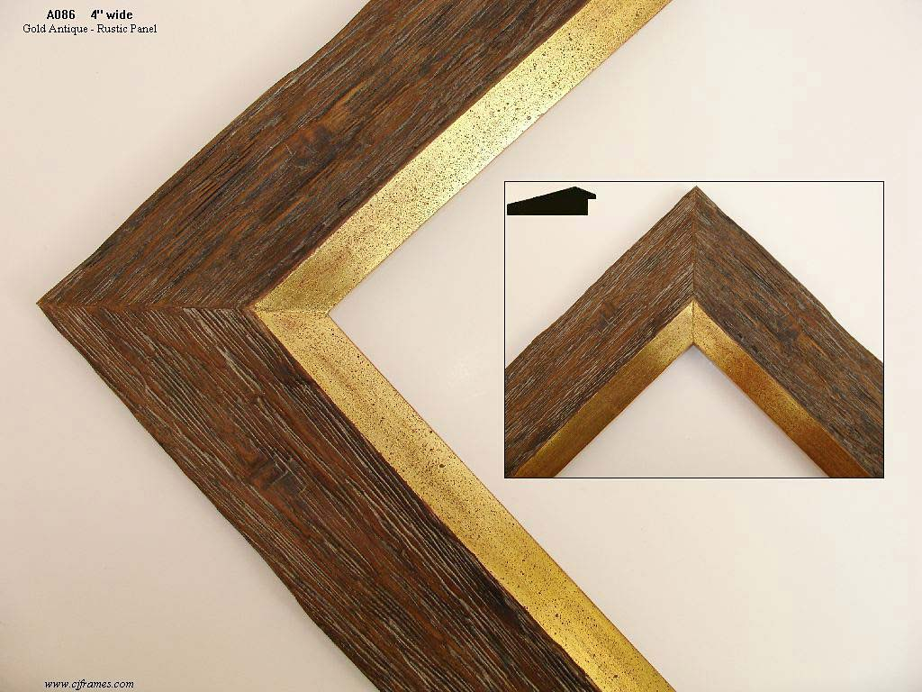 F54- Rustic Finish: Rustic Brown Wood Finish. Usually Combined With Gold Or Metal Leaf.