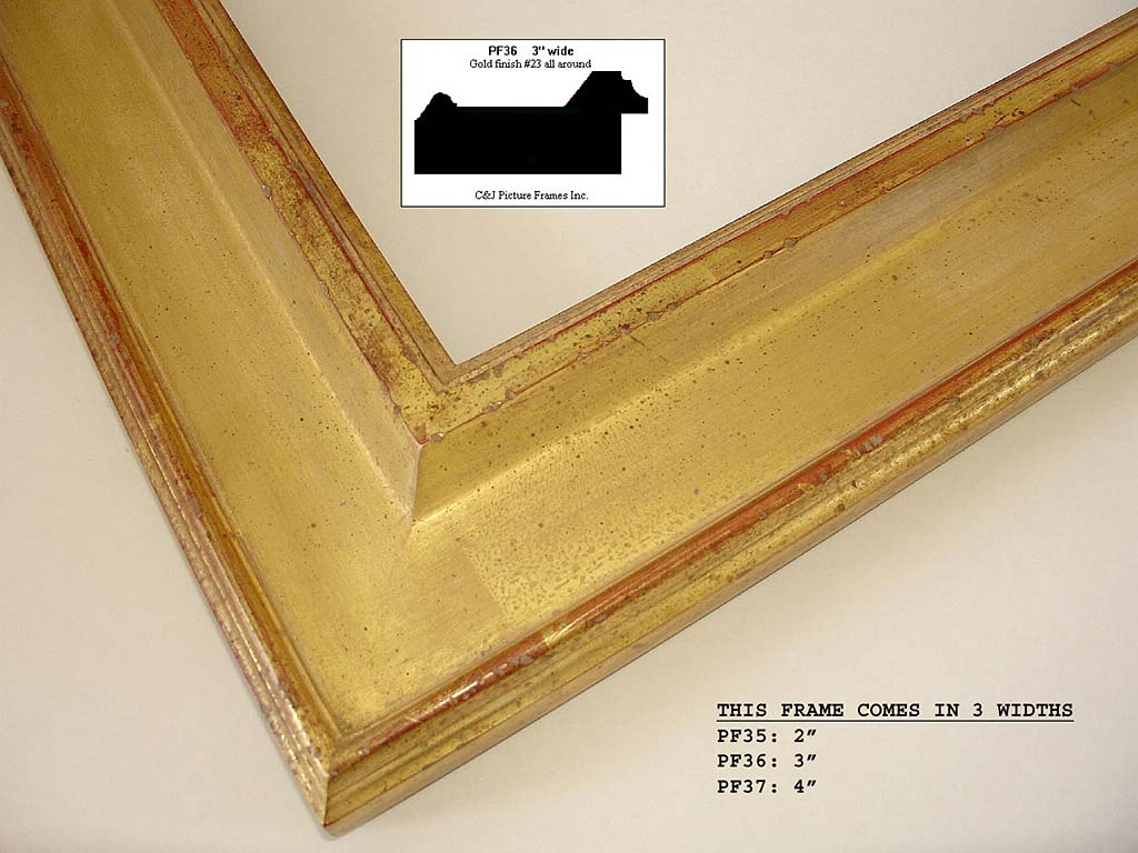 F23b- Gold Finish #23: 22k Yellow Gold Over Yellow And Red Clays. Special Antique Wash.