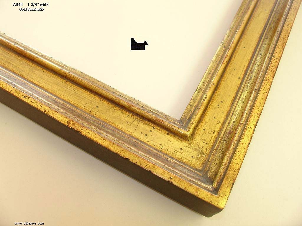 F25- Gold Finish #25: Gold (22k), Darker Antique Finish With More Rub And Cut Marks, Special Wash.